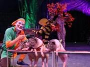 Desarrolla en Vietnam circo con animales domésticos
