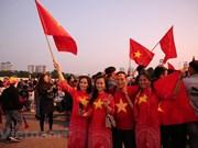 El estado de My Dinh se tiñe de rojo por decenas de miles de fanáticos vietnamitas