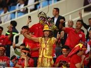 El color de las emociones de hinchas vietnamitas en el estado de My Dinh