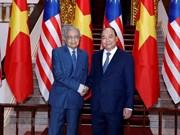 (Video) El primer ministro de Vietnam se reunió con su homólogo malasio