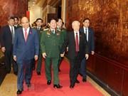 Secretario general del Partido Comunista y presidente de Vietnam participa en la XI Asamblea partidista del Comité partidita del Ejército