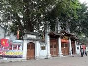 Cerrados sitios históricos en Hanoi