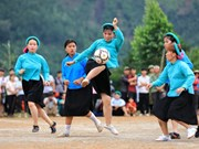 Partidos de fútbol solo para mujeres de minorías étnicas en provincia vietnamita de Quang Ninh