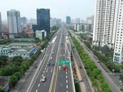 Construyen rampas de entrada y salida de viaducto en Hanoi