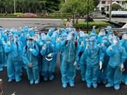 Estudiantes de medicina en Ciudad Ho Chi Minh luchan contra el COVID-19