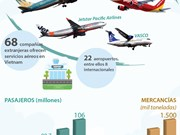[Info] Sector aéreo de Vietnam mantiene su ritmo de crecimiento