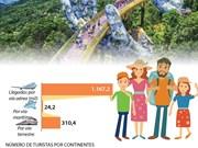 [Info] Vietnam recibe en enero de 2019 más de un millón 500 mil turistas extranjeros
