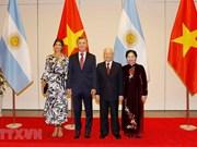 [Fotos] Máximo dirigentes de Vietnam, Nguyen Phu Trong, ofrece un banquete al mandatario de Argentina, Mauricio Macri