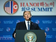 [Fotos] Conferencia de prensa de Trump después de la segunda Cumbre EE.UU.-RPDC
