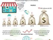 [Info] Ingresos del comercio electrónico en Vietnam pueden alcanzar los 15 mil millones de dólares en 2020