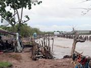 [Fotos] Cambio climático: grave erosión en el dique en la costa de provincia sureña de Kien Giang