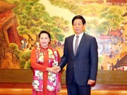 [Fotos] Continúa presidenta del parlamento de Vietnam su visita a China