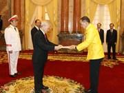 [Fotos] Secretario general del Partido Comunista y presidente de Vietnam, Nguyen Phu Trong, recibe a nuevos embajadores