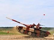 [Foto] Ocupa Vietnam primer lugar en semifinal del biatlón de tanques en los Juegos Militares Internacionales 2019