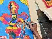 [Foto] Último artista de pinturas populares de Hang Trong