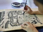 [Foto] Aldea de oficio tradicional de pintura folclórica de Dong Ho