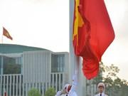 [Foto] Ceremonia de izamiento de la banda en Día de la Independencia