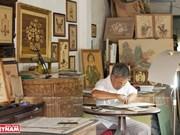 [Foto] Artista muestra espíritu vietnamita en imágenes de marquetería