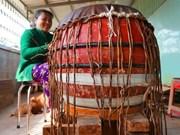 [Foto] Binh An, aldea de oficio tradicional de fabricación de tambores