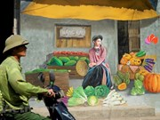 [Foto] Pinturas murales decoran la comuna Chu Xa, Gia Lam, en Hanoi