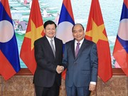 [Foto] Efectúan en Hanoi reunión del Comité Intergubernamental Vietnam-Laos