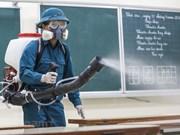 [Foto] Vietnam desinfecta las escuelas para prevenir el contagio del nuevo coronavirus