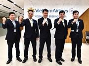 [Foto] Vuelo especial de Vietnam Airlines para regresar a ciudadanos vietnamitas de Wuhan