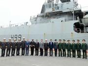 [Foto] Buque HMS Enterprise de la Marina Real británica arriba al puerto Hai Phong para una visita oficial