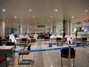 [Foto] Terminal internacional de Noi Bai refuerza control médico de pasajeros en su llegada al país