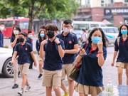 [Foto] Alumnos vietnamitas regresan a escuela después de un largo descanso debido a COVID-19
