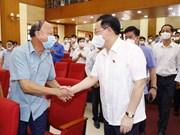 Presidente del Parlamento vietnamita se reúne con votantes de Hai Phon