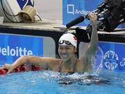 Destacada actuación de nadadora vietnamita en campeonato de Asia