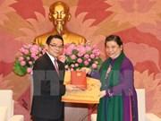 Recibe vicepresidenta parlamentaria a delegación de amistad laosiana