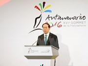 Presidente vietnamita mantiene encuentros al margen de Cumbre de Francofonía