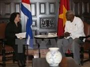 Presidenta parlamentaria de Vietnam continúa agenda en La Habana