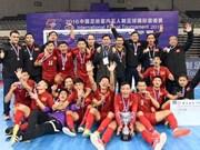 Vietnam gana plata en torneo internacional de fútbol sala en China