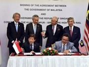 Malasia y Singapur firman acuerdo de ferrocarril de alta velocidad