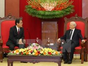 Líder partidista recibe a nuevo embajador de Japón