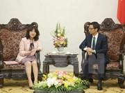 Vicepremier de Vietnam recibe a funcionaria del Partido Liberal Democrático de Japón