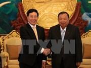 Canciller de Vietnam efectúa visita oficial a Laos