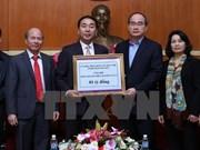 Reciben ayuda financiera destinada a víctimas de inundaciones en Vietnam
