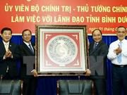 Premier urge a Binh Duong a convertirse en pionero de economía nacional