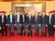 Líder partidista vietnamita recibe a dirigentes de AIIB y de grupo Sunwah