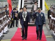 Primer ministro de Japón visita Filipinas