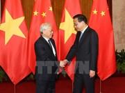 Líder partidista de Vietnam se reúne con premier de China
