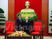 Líder partidista de Vietnam afirma política de profundizar lazos con Japón