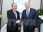 Primer ministro de Vietnam desarrolla intensa agenda de actividades en Davos