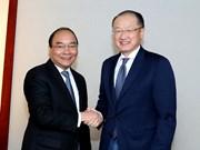 Premier vietnamita cumple intensa agenda de encuentros en Davos