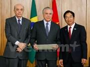 Brasil y Vietnam intensifican relaciones de colaboración  