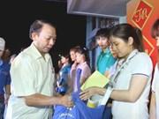 Asistencias a trabajadores y hogares pobres en Vietnam por el Tet